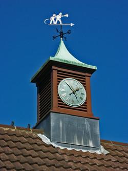 Verdigris clock