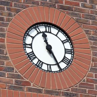 Skeleton style clock