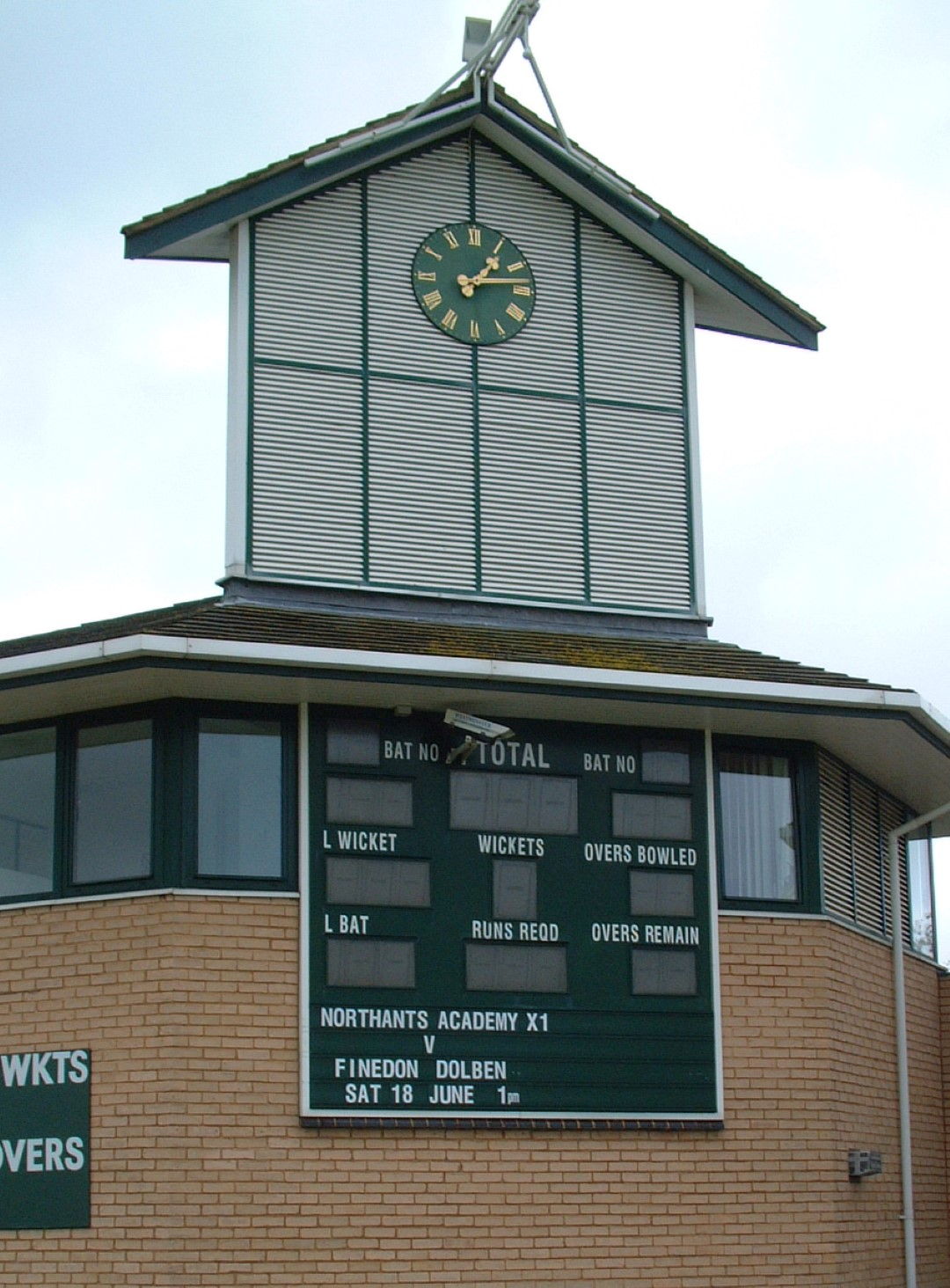 Cricket Pavilion Clock