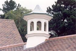 Open louvre bell tower