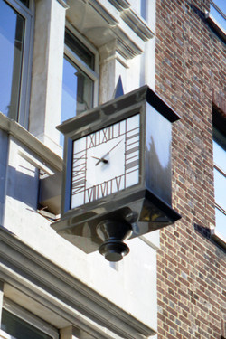 Double sided Mackintosh clock