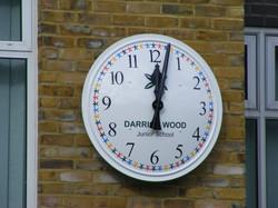 Darrick clock close up