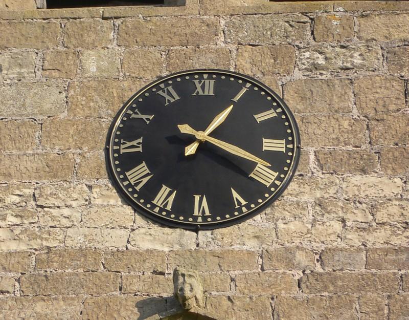 Black Devon Roman Exterior Clock