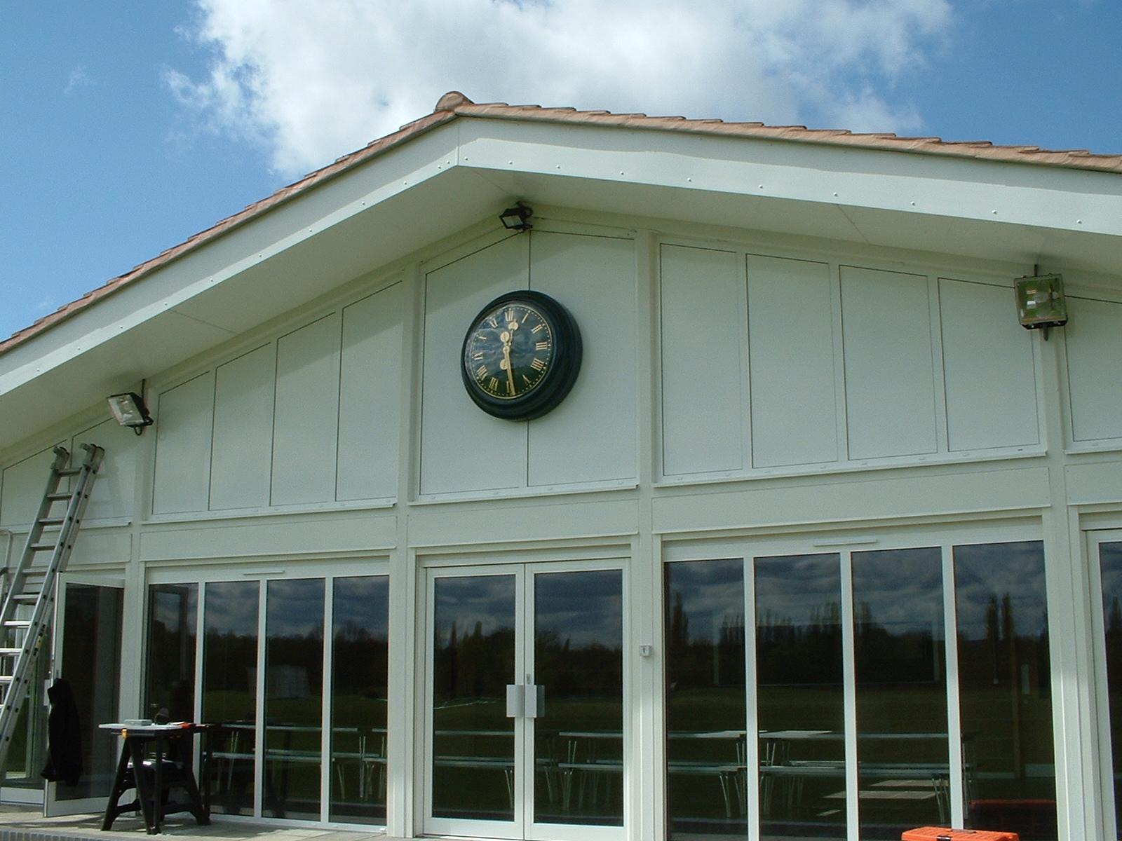 Pavilion clock