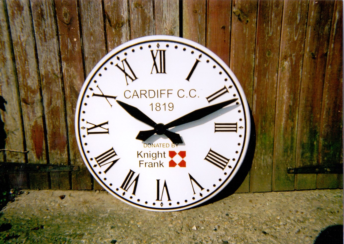 Exterior Clock with Corporate Branding