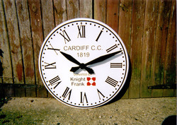 White Roman Outdoor Clock for Buildings