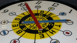 Bespoke clock designed by school