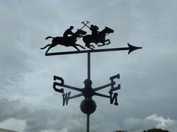 Polo players weathervane
