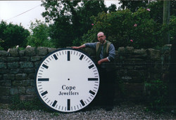 Large exterior wall clock for building
