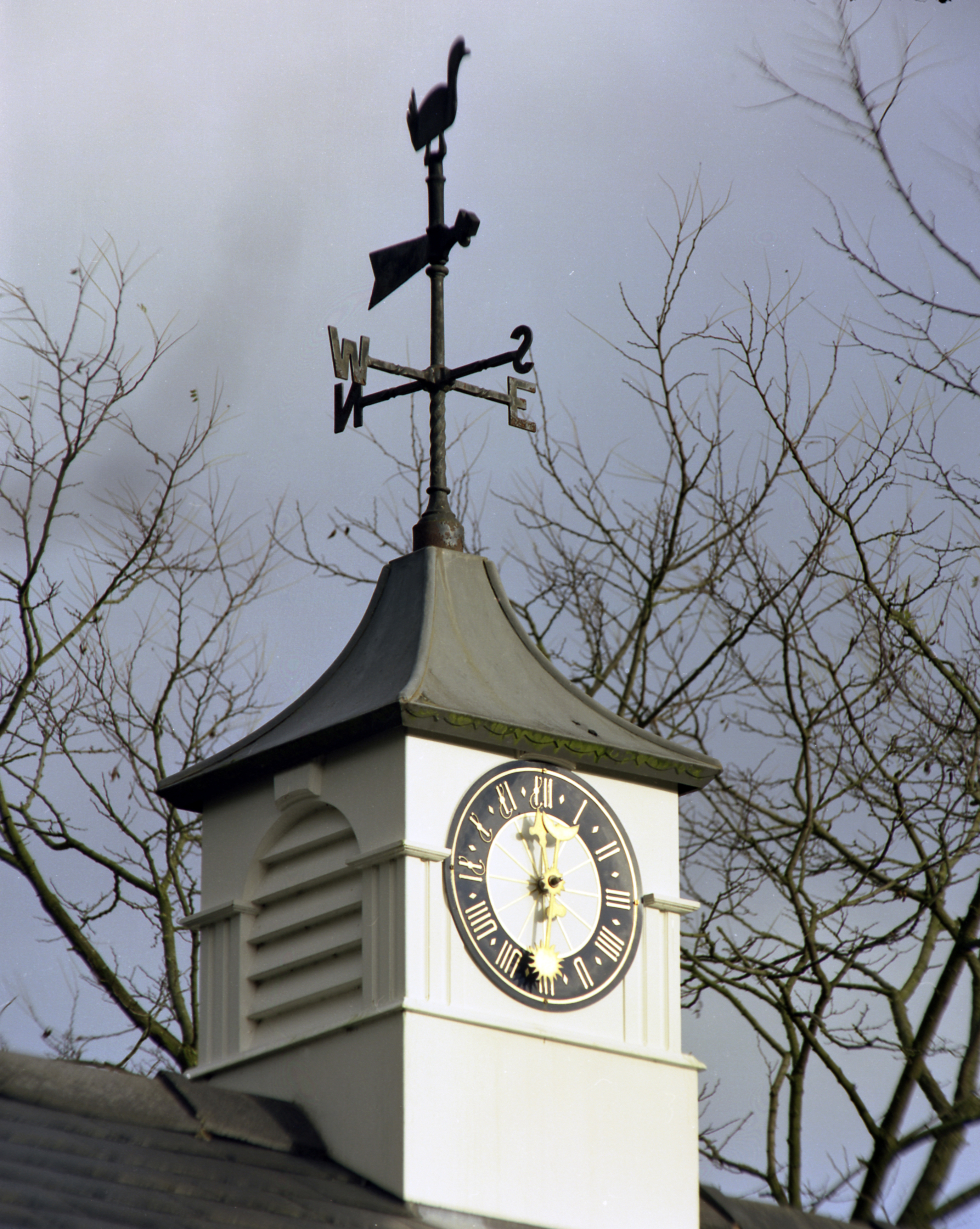 Medieval dial in a clock tower