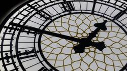 Big Ben replica clock face