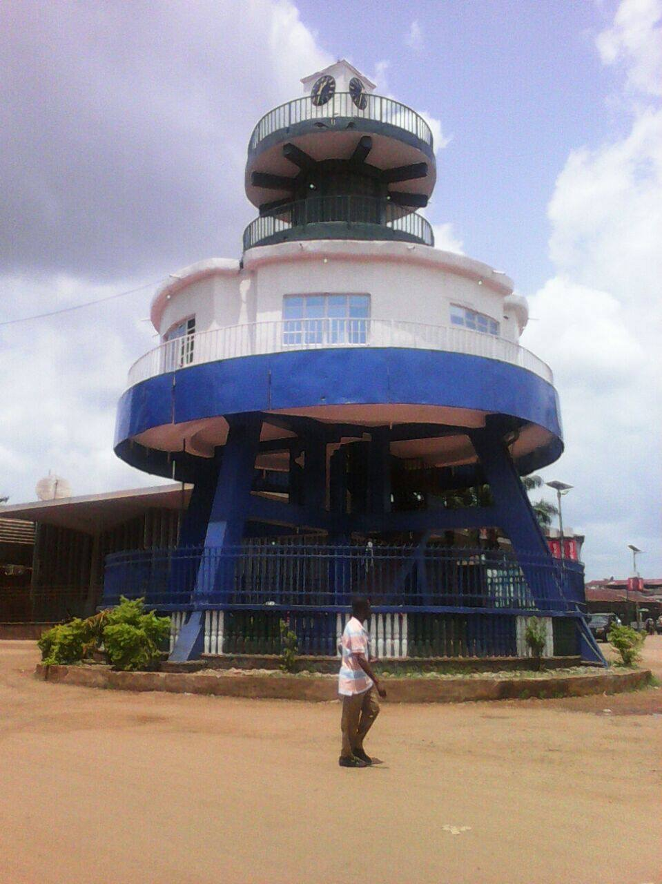 Roof turret on roundabout