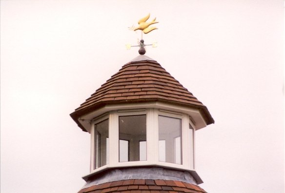 Glazed roof turret