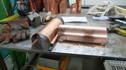 Bespoke copper gutter joint