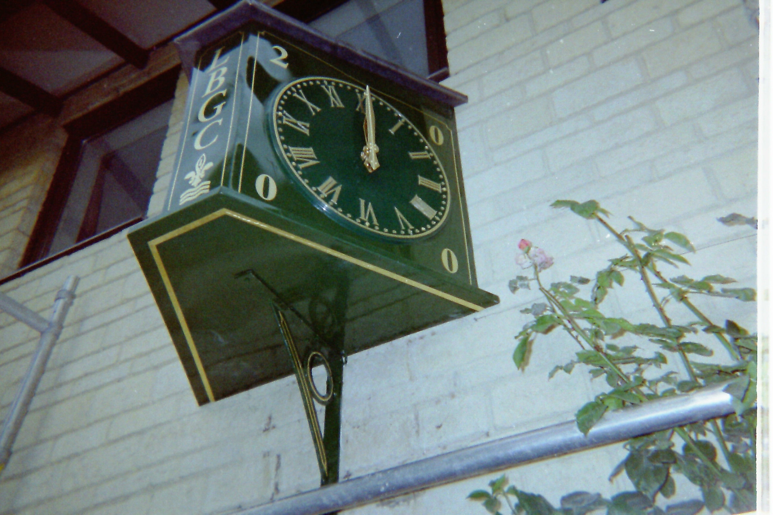 Projecting Clock for funeral homes