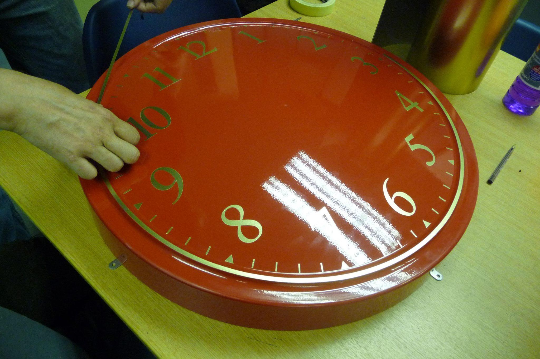 Arabic Clock with return edge