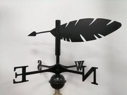 Weathervane - Black feather