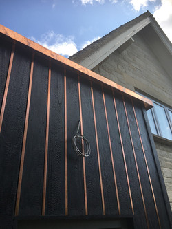 Copper fascia and soffit