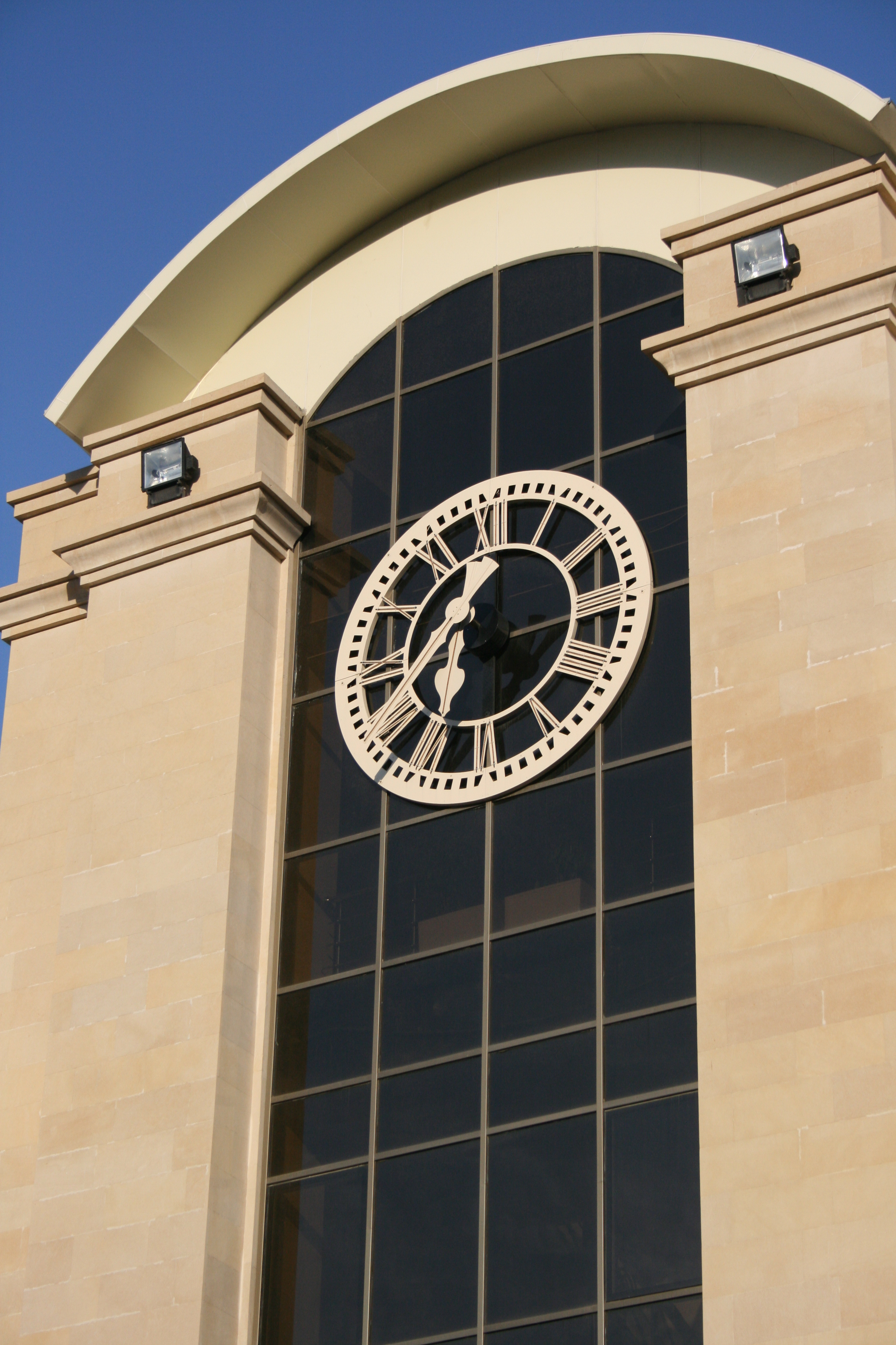 Large exterior clock for school entr