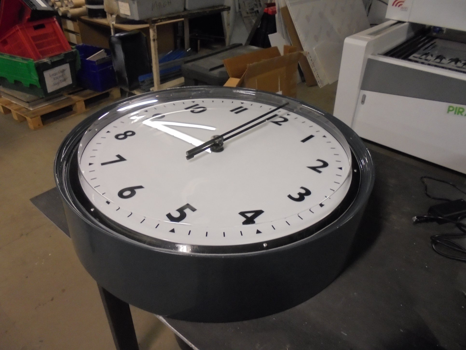 Flat Sided Bezel Clock