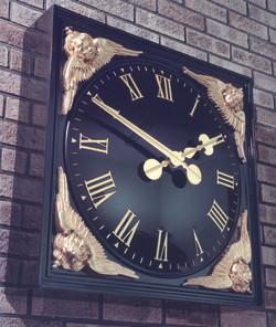 Classic clock in square bezel