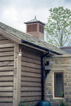 Brown roof turret