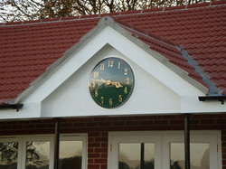 Pavilion clock with protective cover