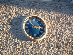Restored church clock