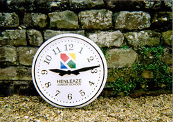 White and Black Arabic Large Exterior Clock