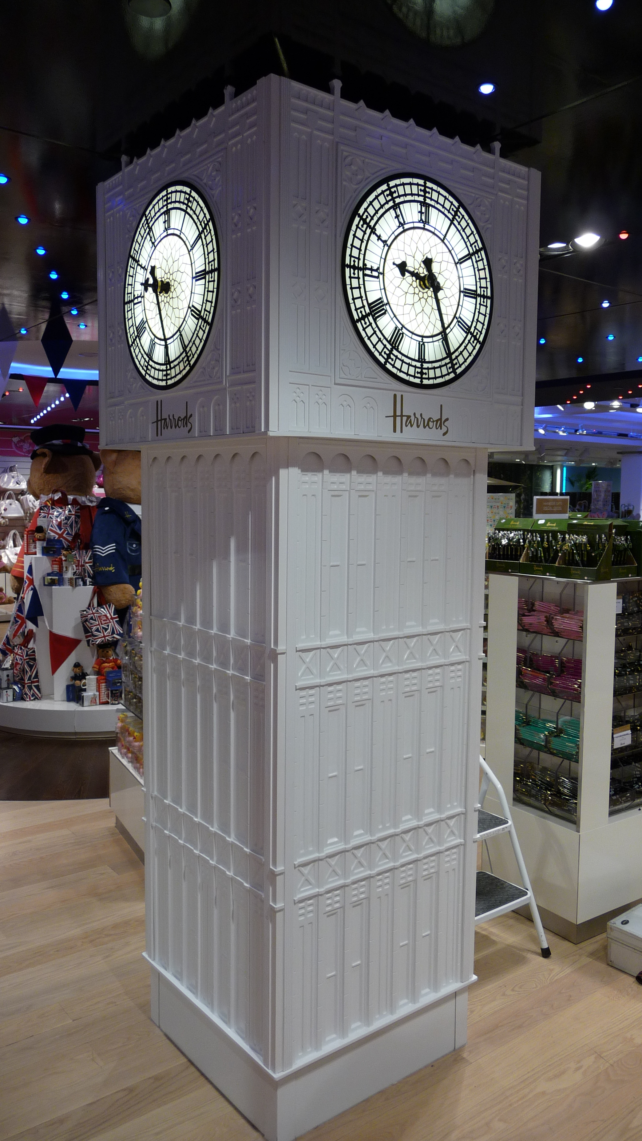 Big Ben replica inside Harrods