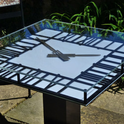 Garden clock table