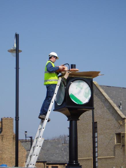 Civic Feature Pillar Clock Installations