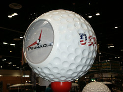 Golf ball clock with signage