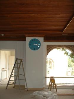 Copper effect clock