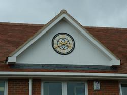 School pavilion clock