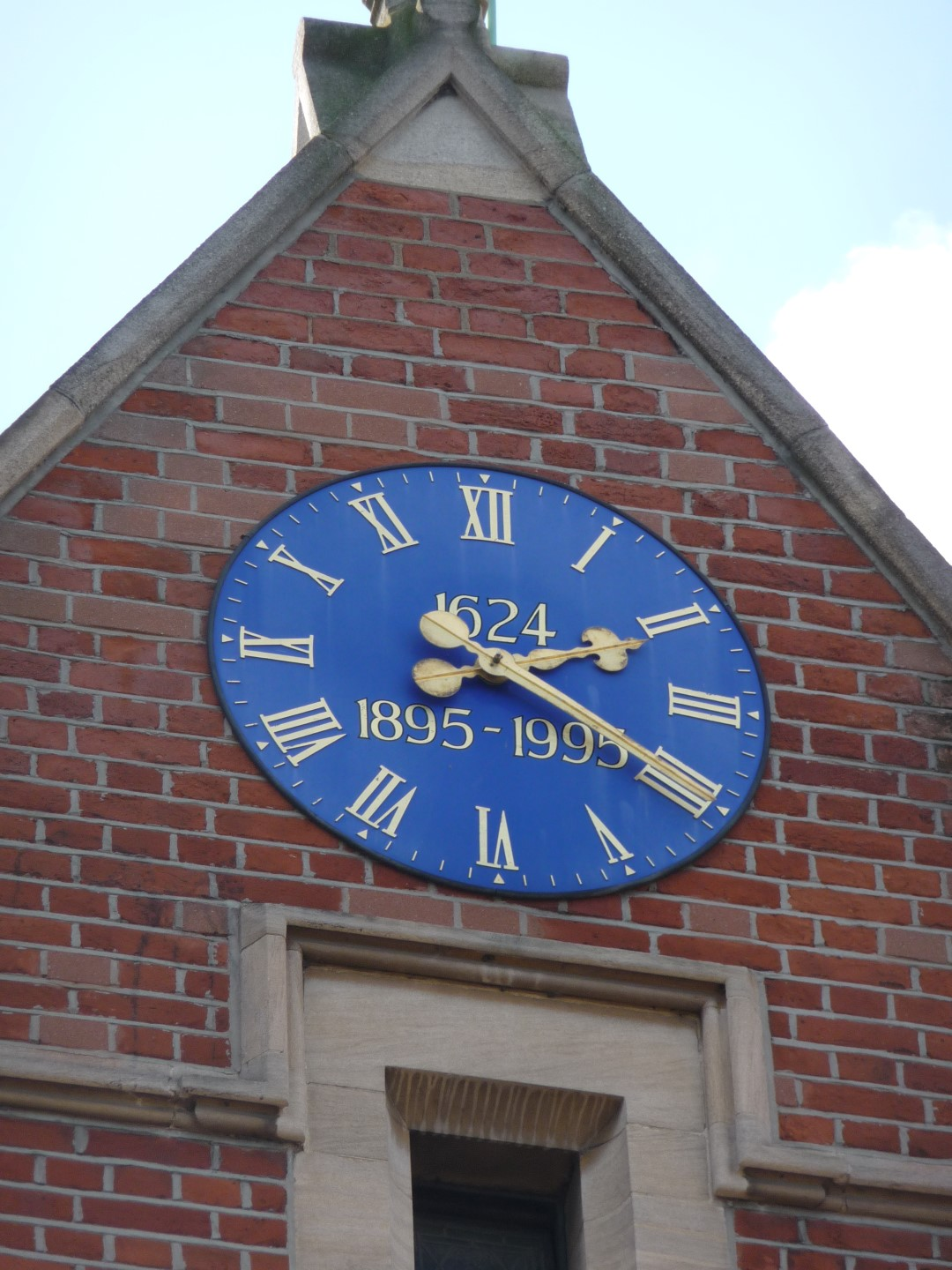 School clock with dates on it