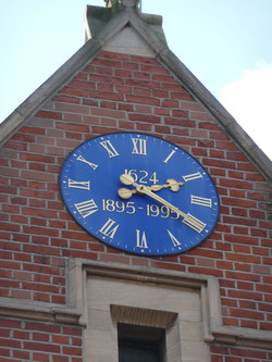 School clock with dates on it