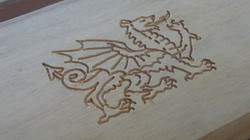 Engraved hardwood