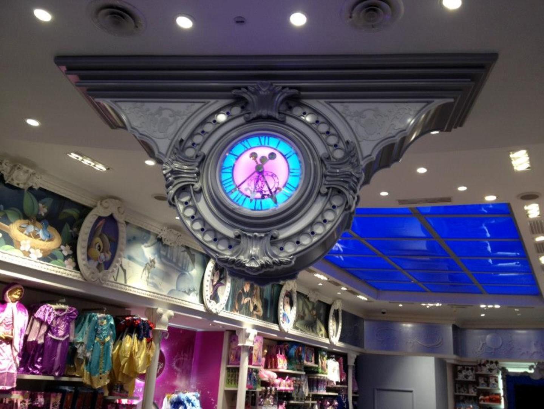 Disney Store Paris Interior Clock