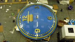 Large exterior clock with lighting