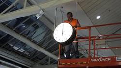 Illuminated large station clock