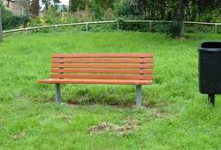 Kara seat in park