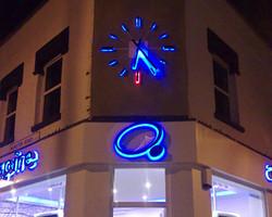 Halo illuminated chapter clock
