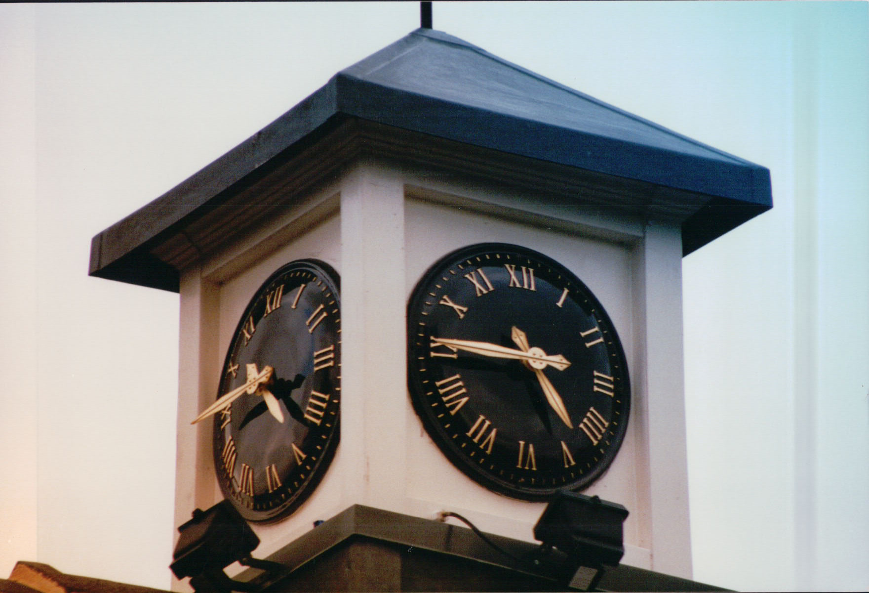 Large External Clock Tower