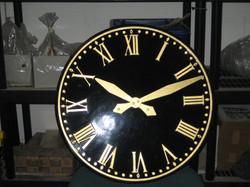 Black Roman Large Exterior Clock