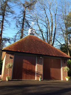 Clock towers on garages