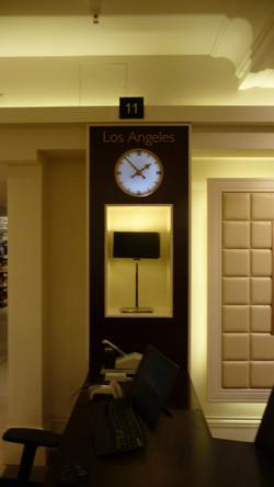 Time zone clocks in Harrods