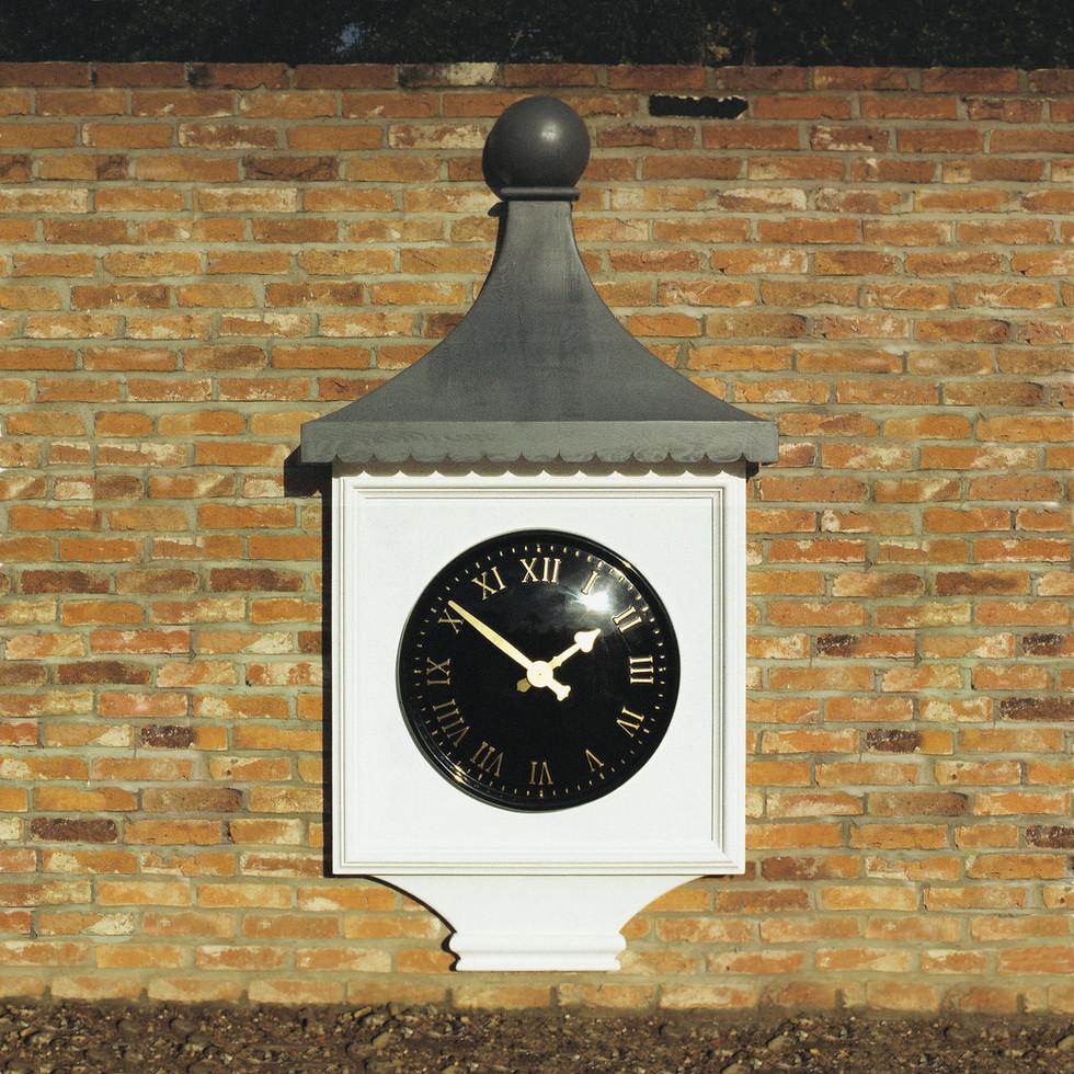 Faux tower clock plinth