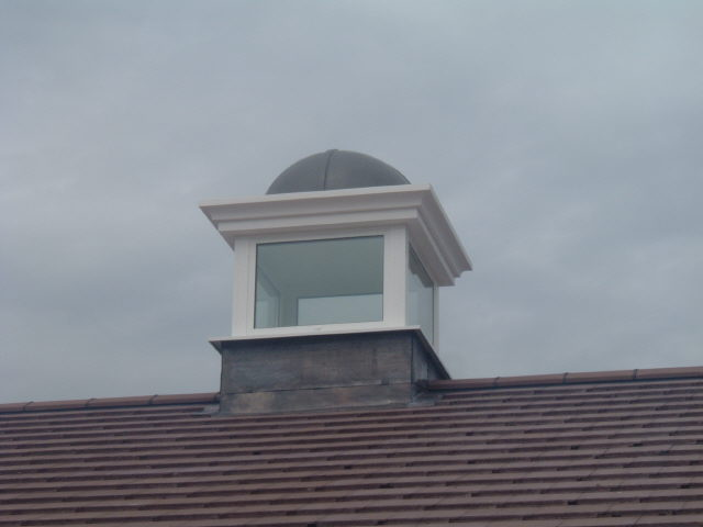 Square turret with glazing