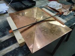 Copper postbox